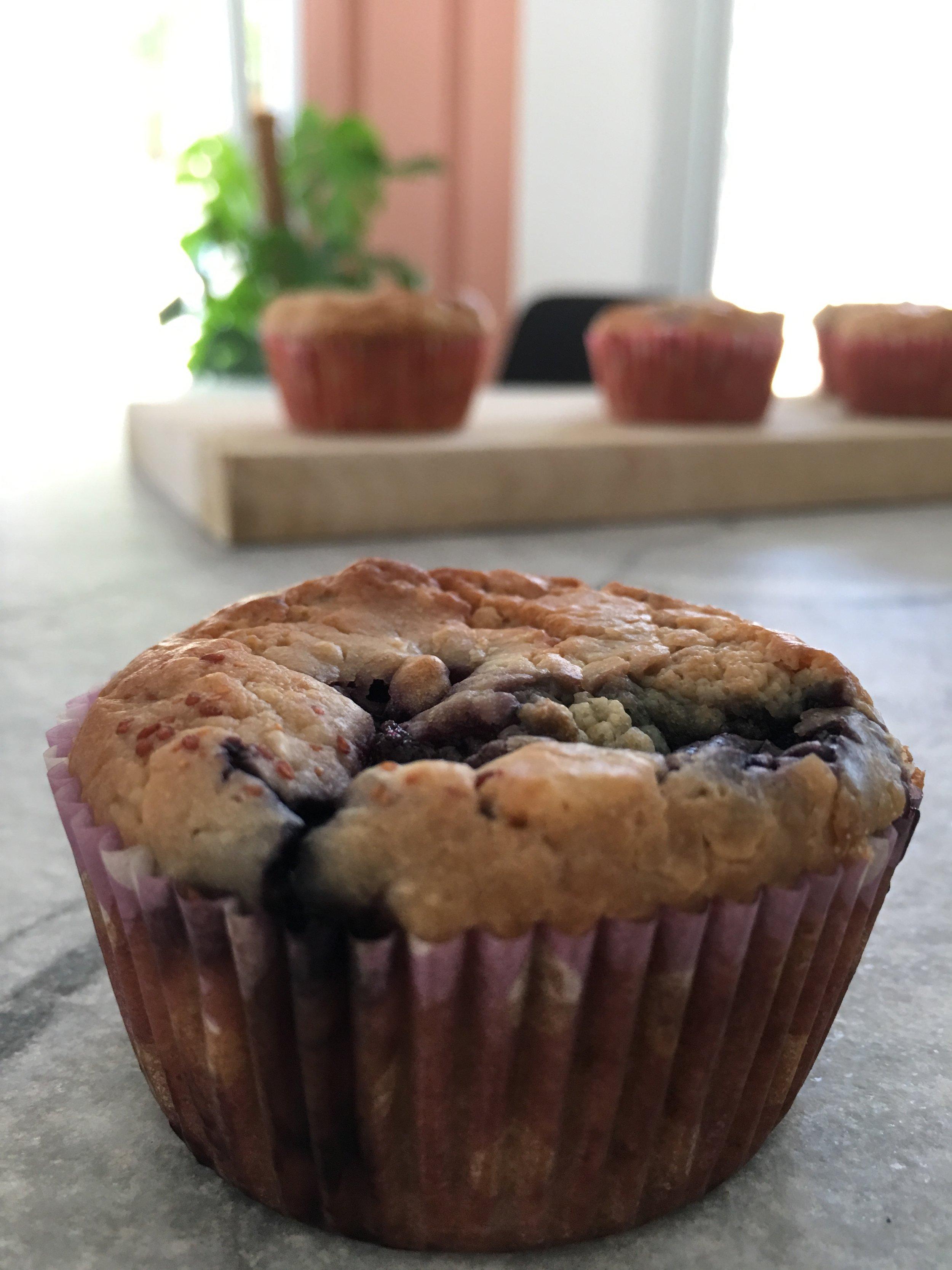 Vegan blueberry muffins recipe - Rebecca Kourmouzi Registered clinical dietitian/nutritionist based in Nicosia Cyprus