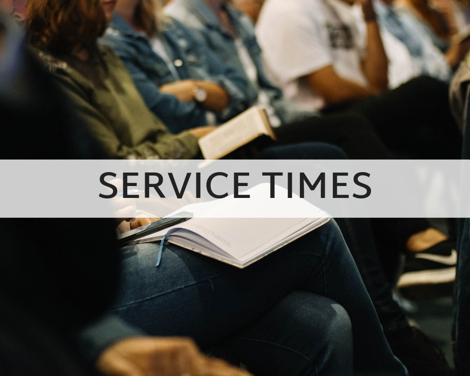 Sunday School: 9:45-10:30AM  Sunday Service: 11AM-12:15PM  Wednesday Night Services: 6:30-8PM