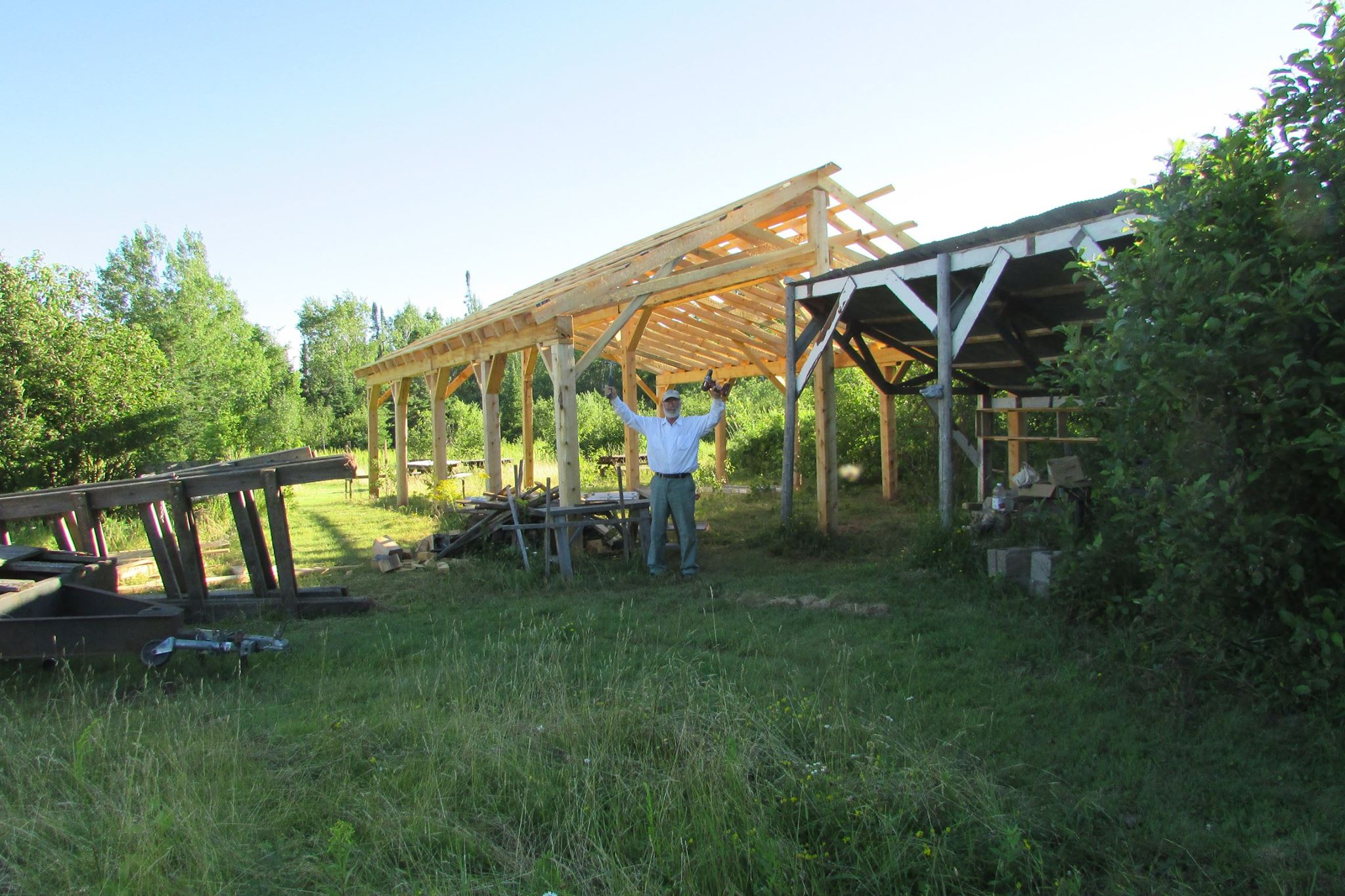 to build a beautiful new dining pavilion