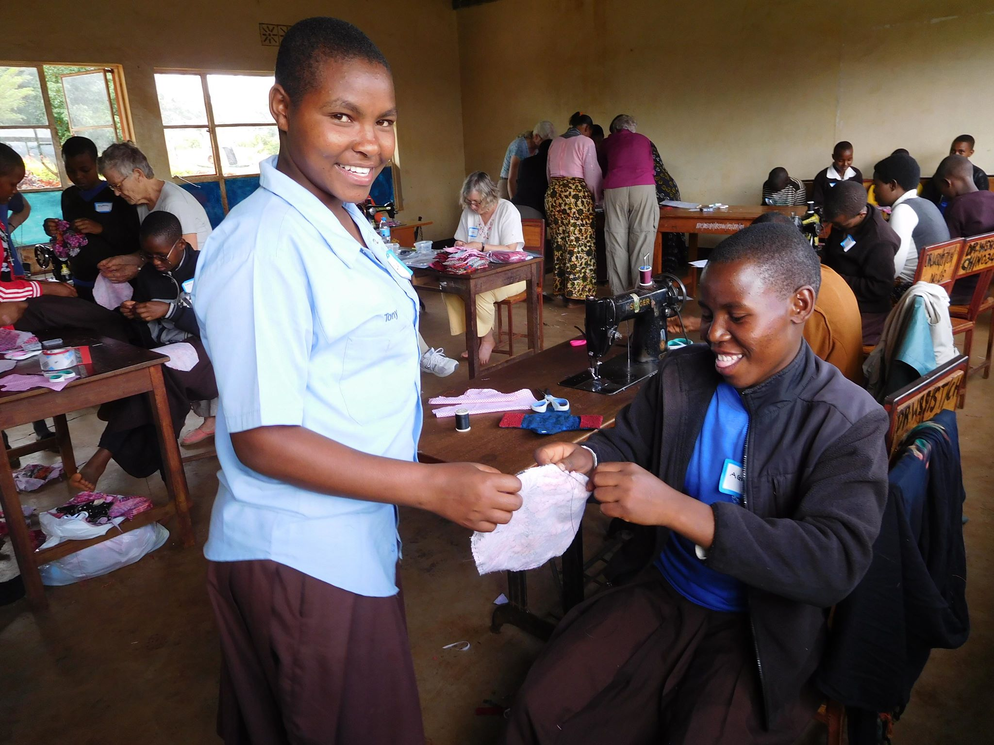 Sewing menstrual kits