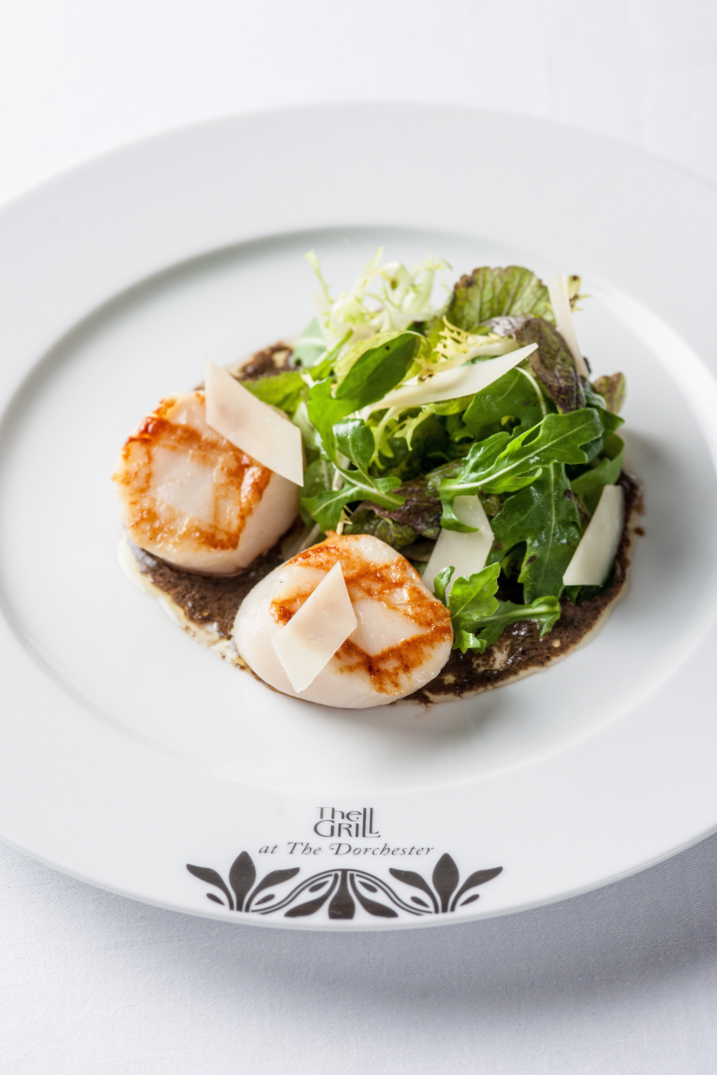 The Grill at The Dorchester - Grilled hand-dived scallops, autumn salad.jpg