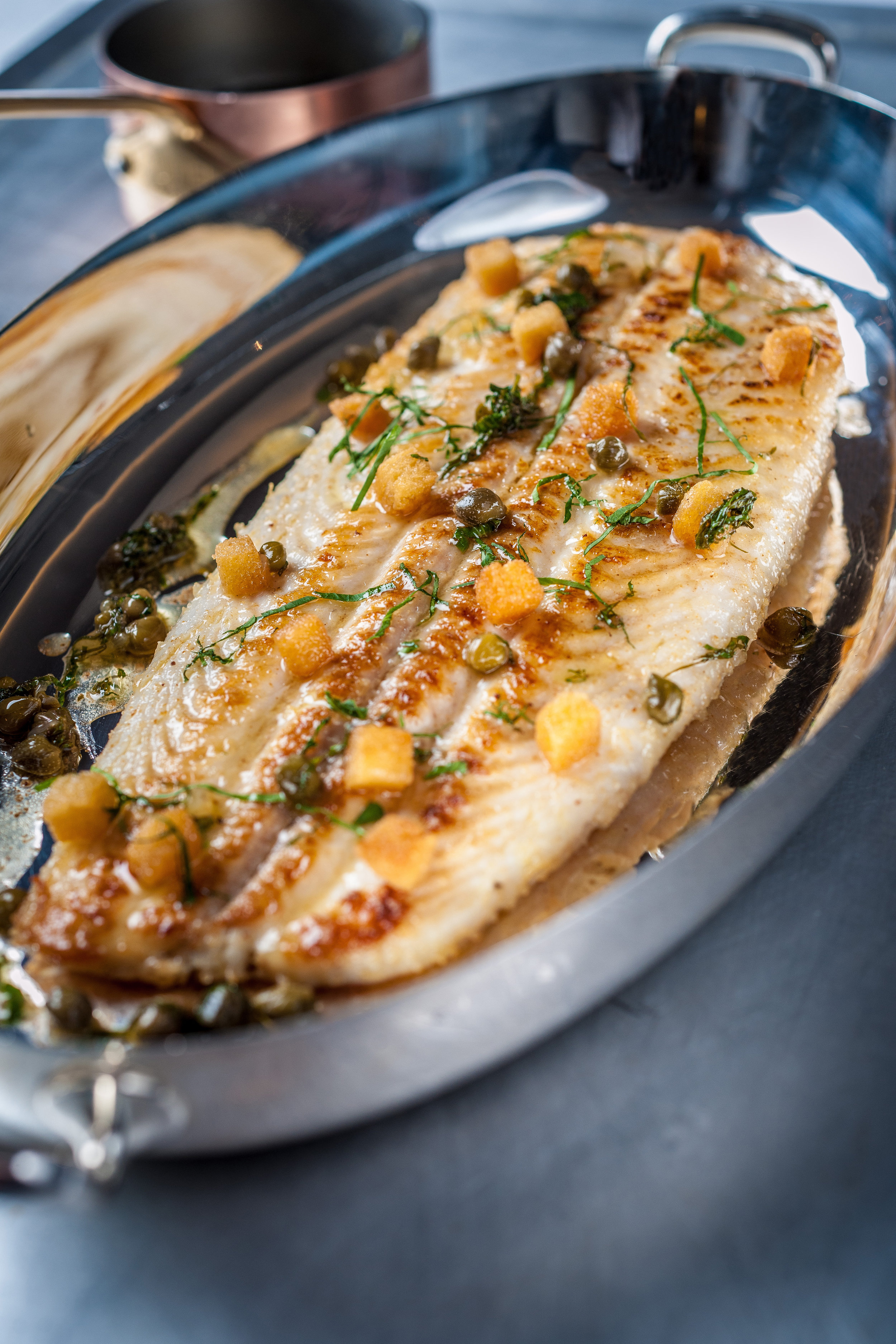 The Grill at The Dorchester - Whole Dover sole 1.2kg, lemon capers croutons.jpg