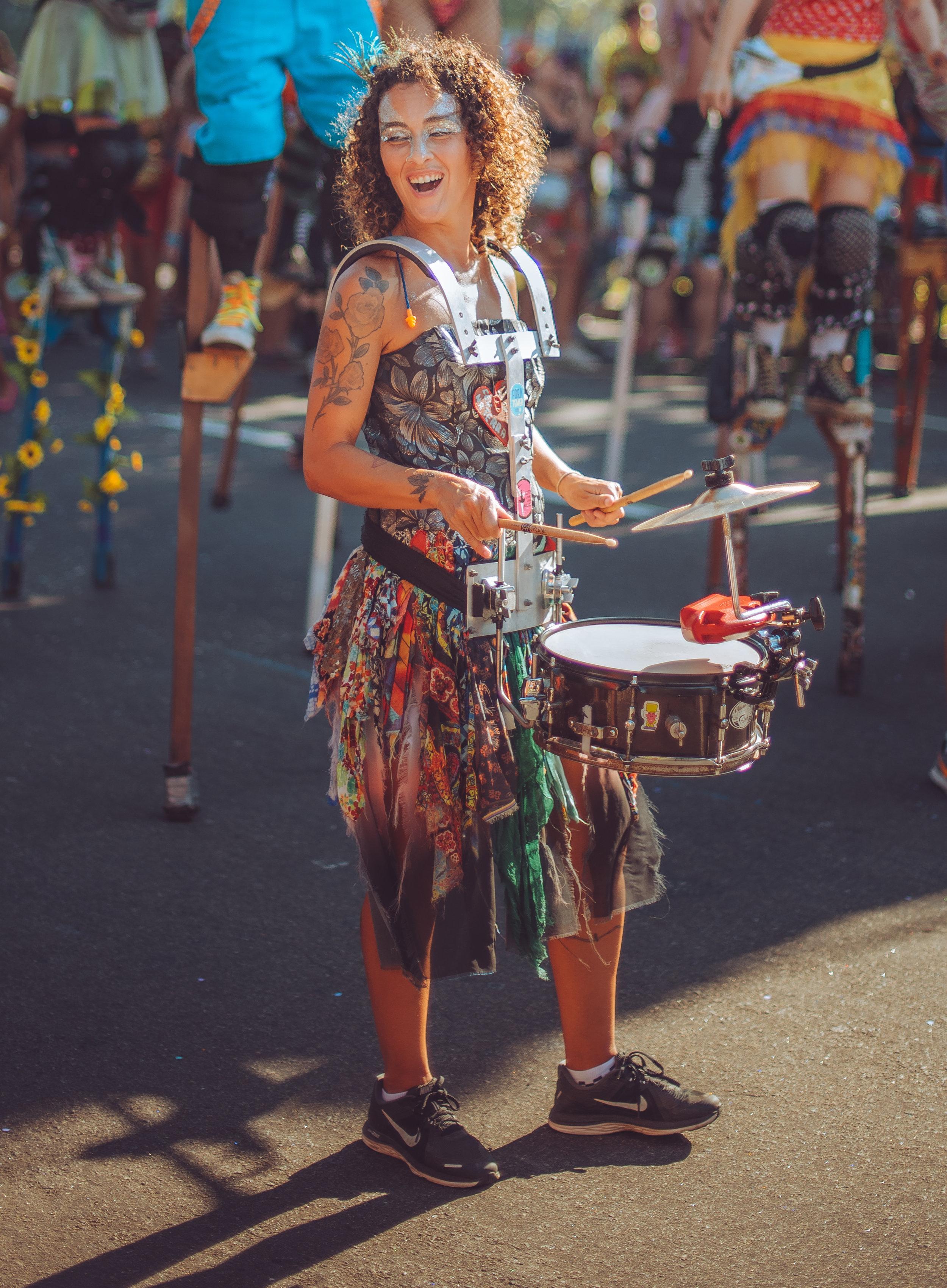 Carnival drumming in Rio