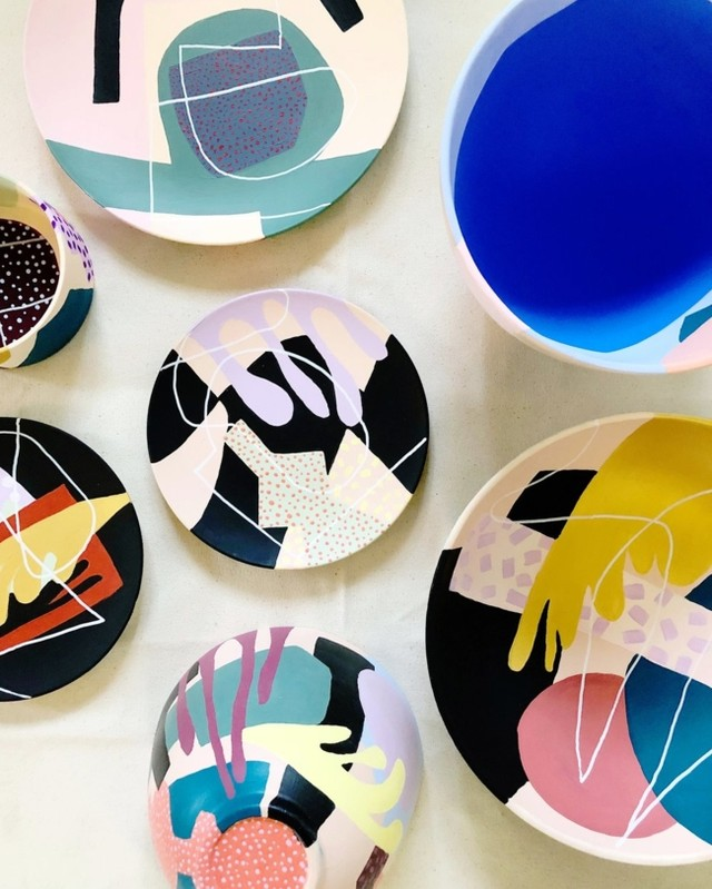 Hand made and painted ceramics - by @alexproba - #alexproba  #ceramics #studioproba  #productdesign #product #objectdesign #designobject #design #interiordesign #baronesso