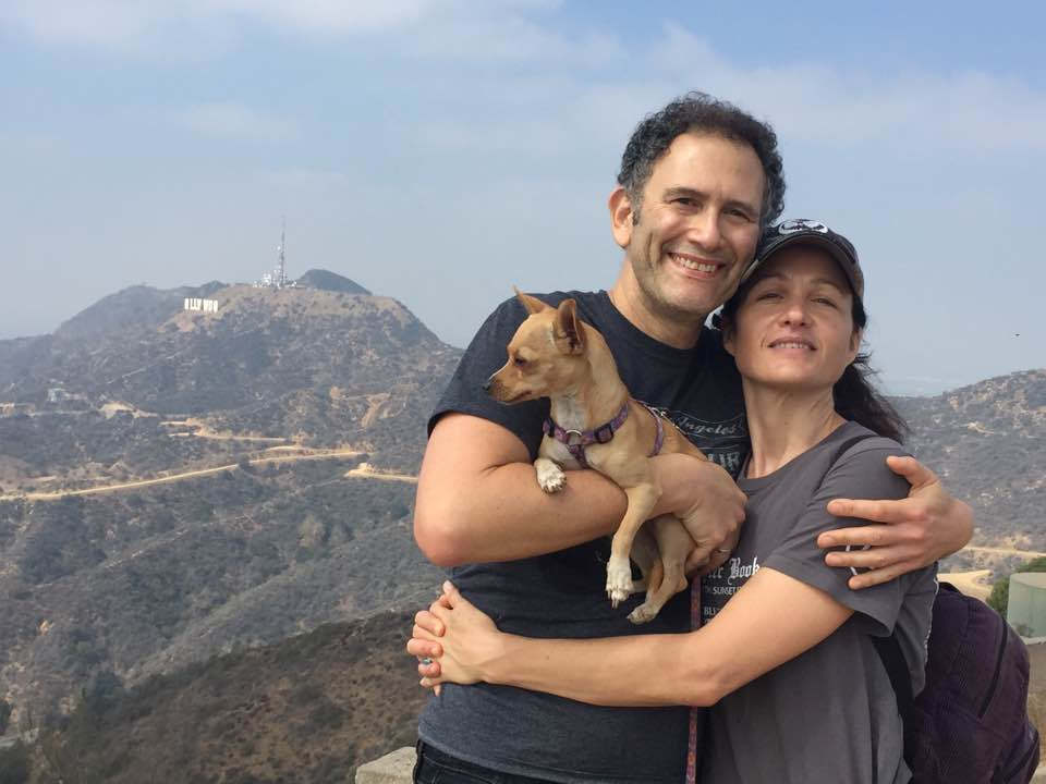 Cheryl & Joe with Lucy, who they rescued off the the streets of Sayulita, Mexico in 2014.