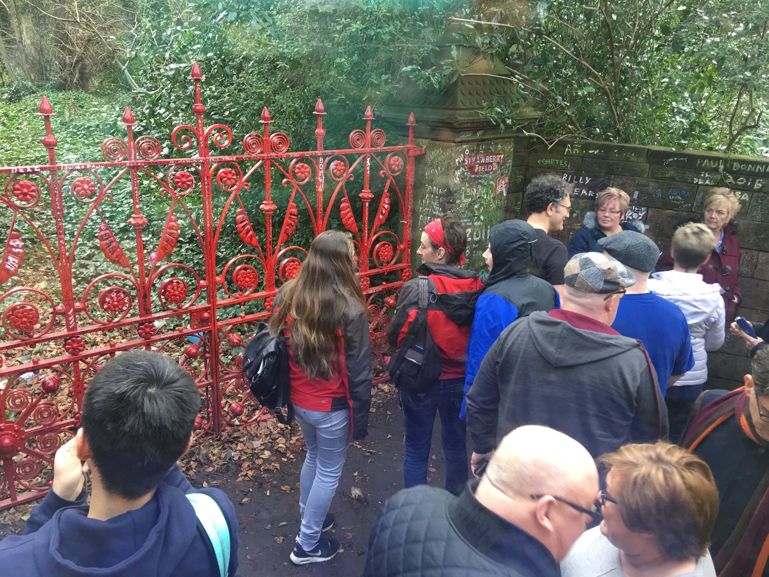 The gate at Strawberry Fields which inspired many a John Lennon lyric.