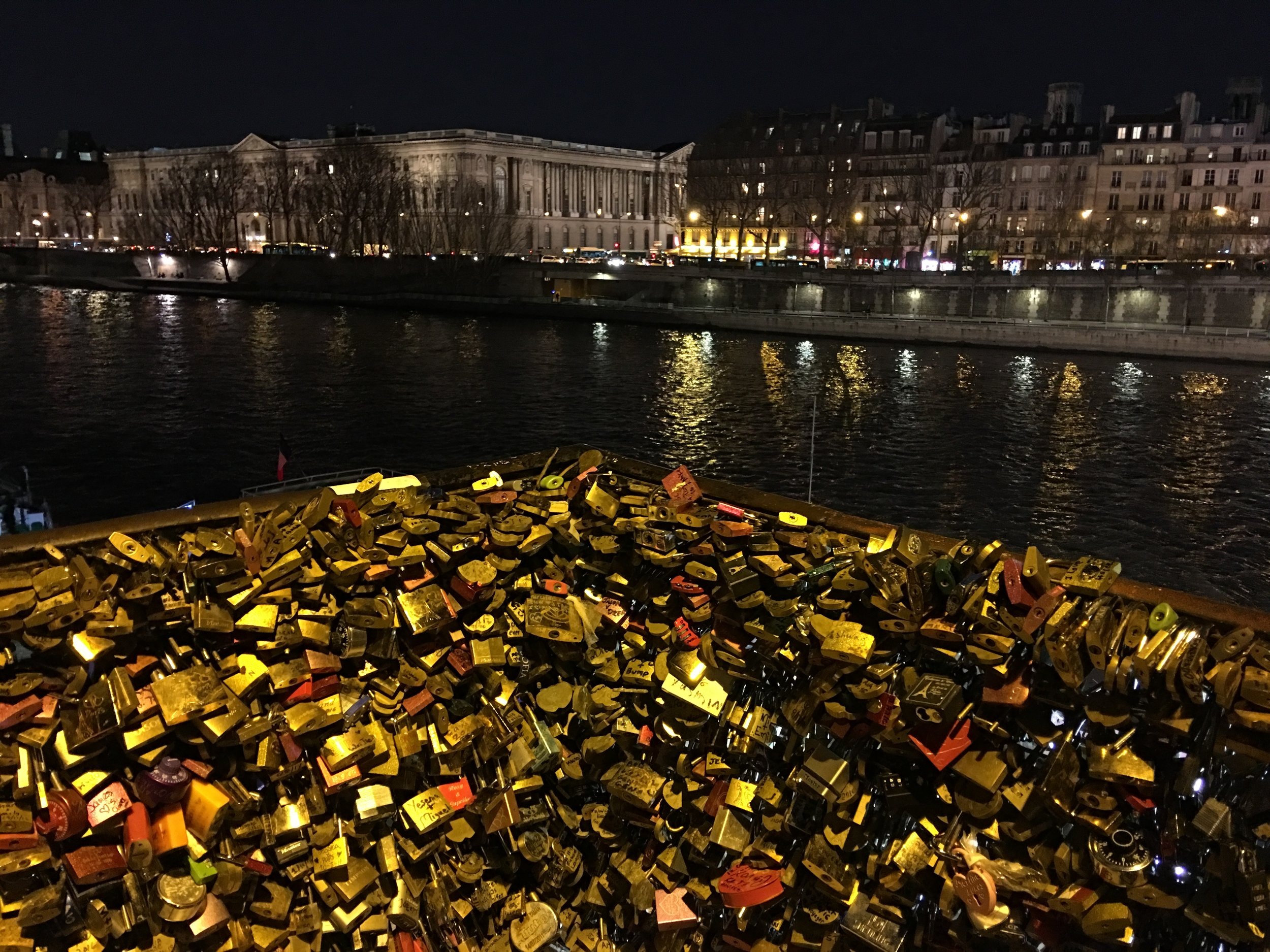 A whole pile of love cut from the Pont des Arts