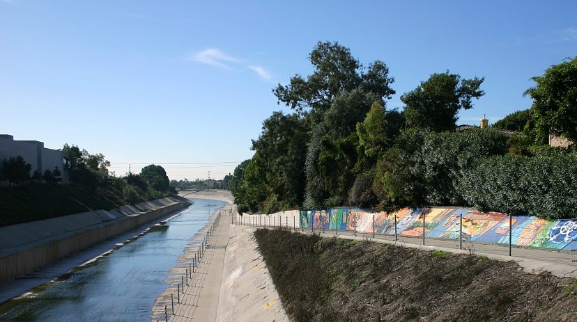 Ballona Creek Bike Path goes by some really cool murals.