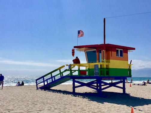 Life guard solidarity as lived on Venice Beach.