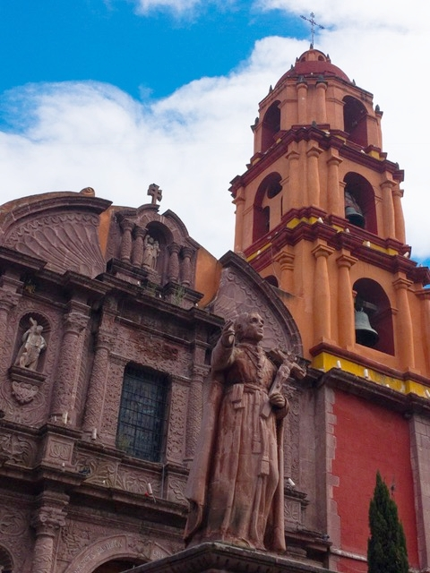 The San Francisco Church in the heart of San Miguel.