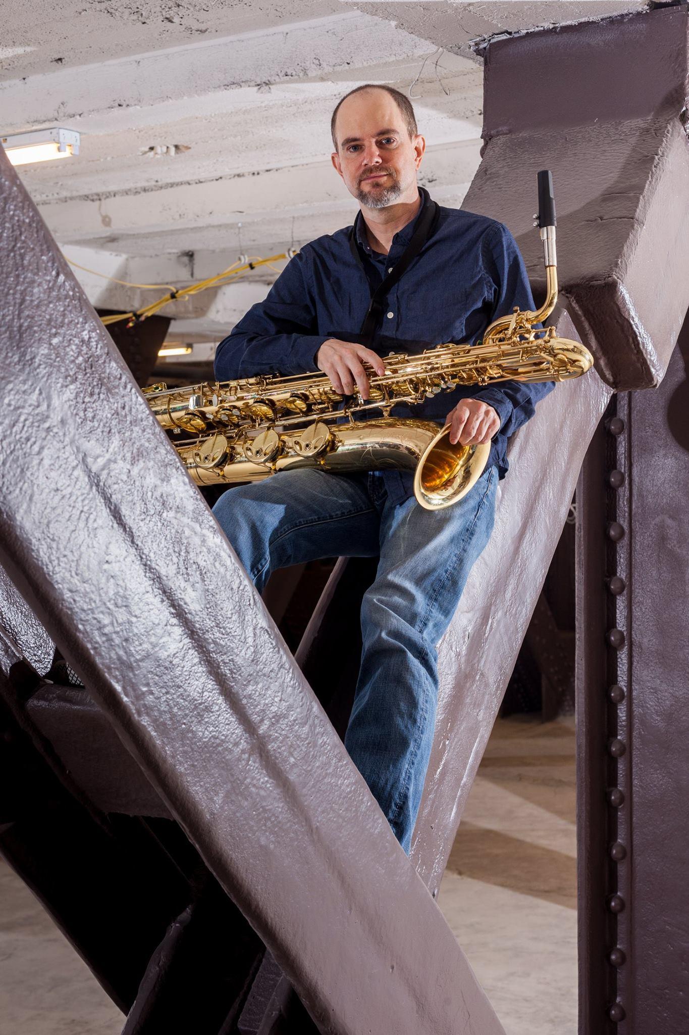 Brian Ciufo - Baritone saxophone , Sticks