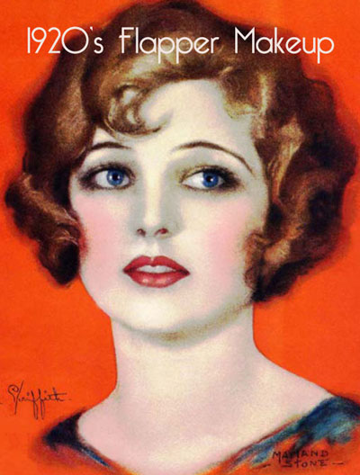 1920's makeup style: waves, eyes, brows.