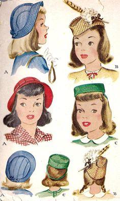 1940s: hat styles