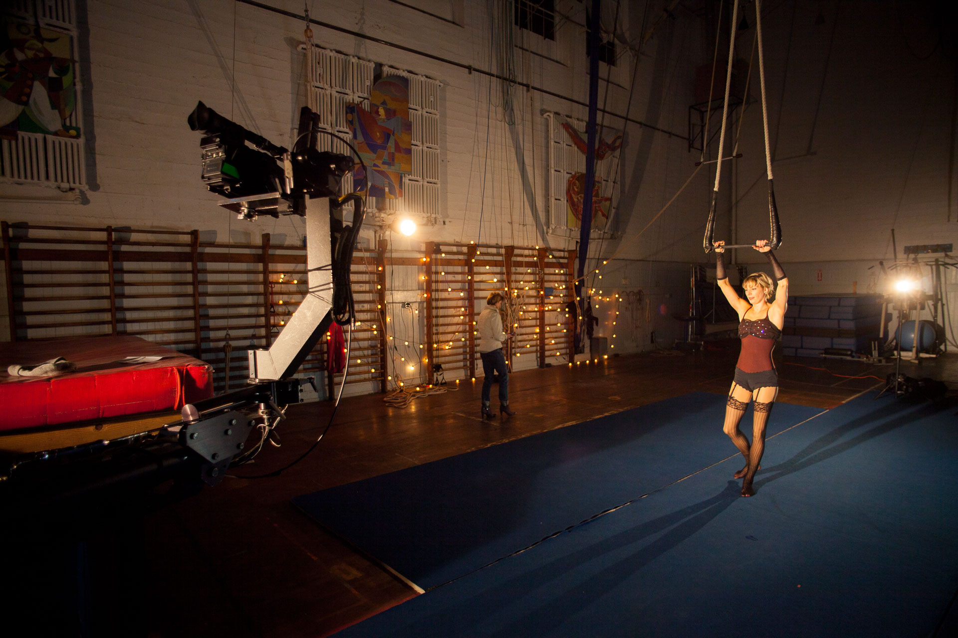Acrobatics for Sean Hayes' Music Video