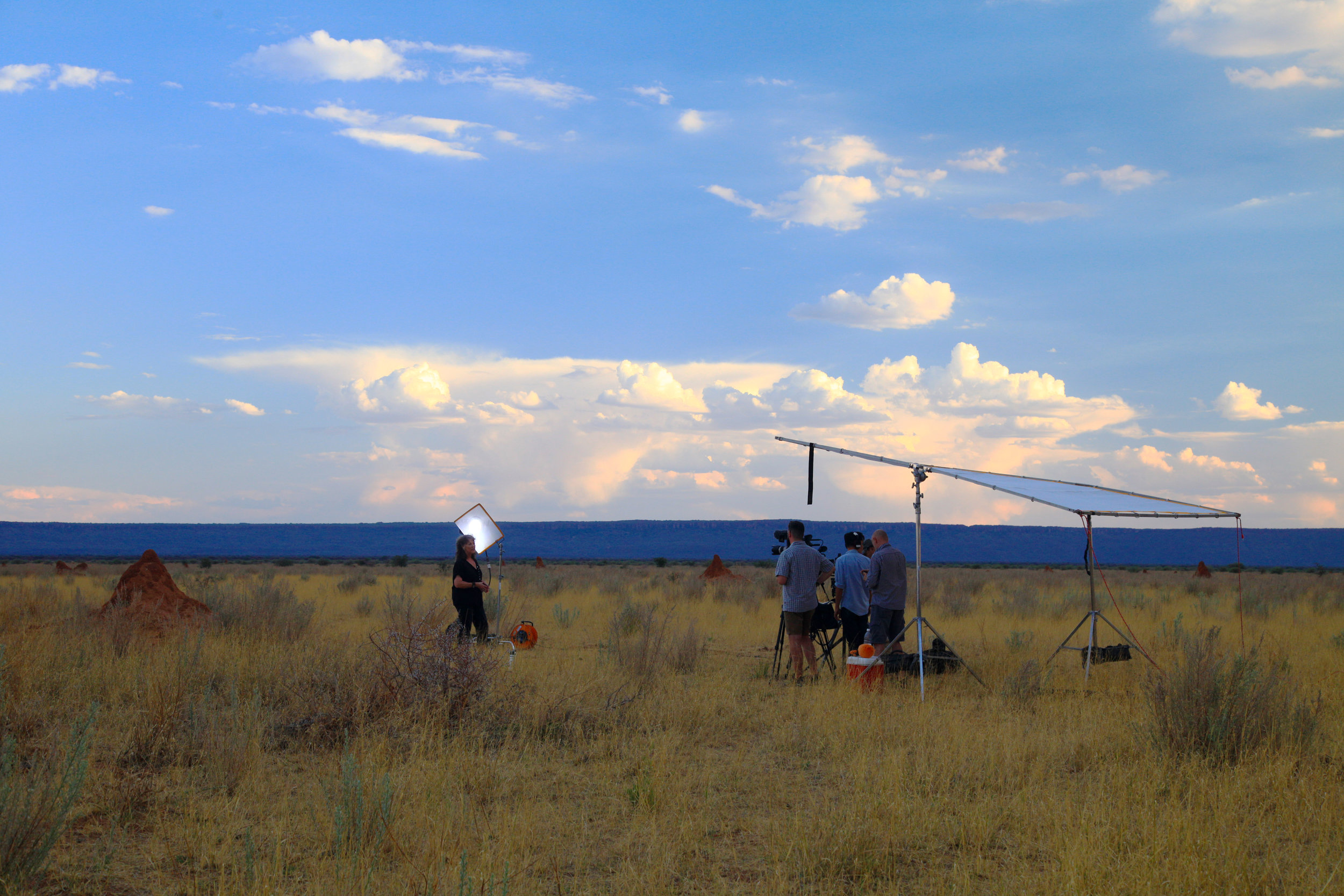 Documentary shoot in Namibia