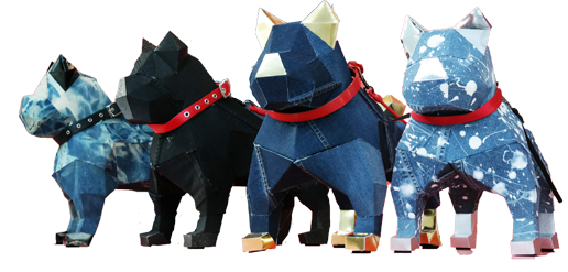 Denim Dogs By Heemin Moon