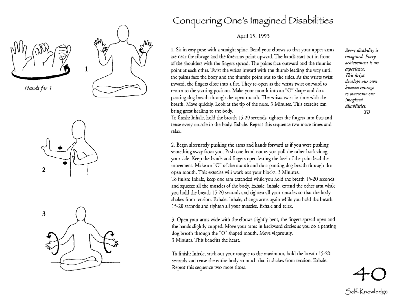 Conquering Ones imagined disabilities