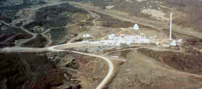 Mauna Loa Observatory from the air. Source:  Wikipedia.