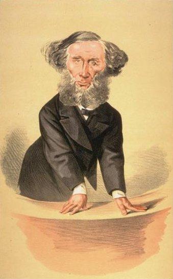 Caricature of John Tyndall, Vanity Fair, 1872.