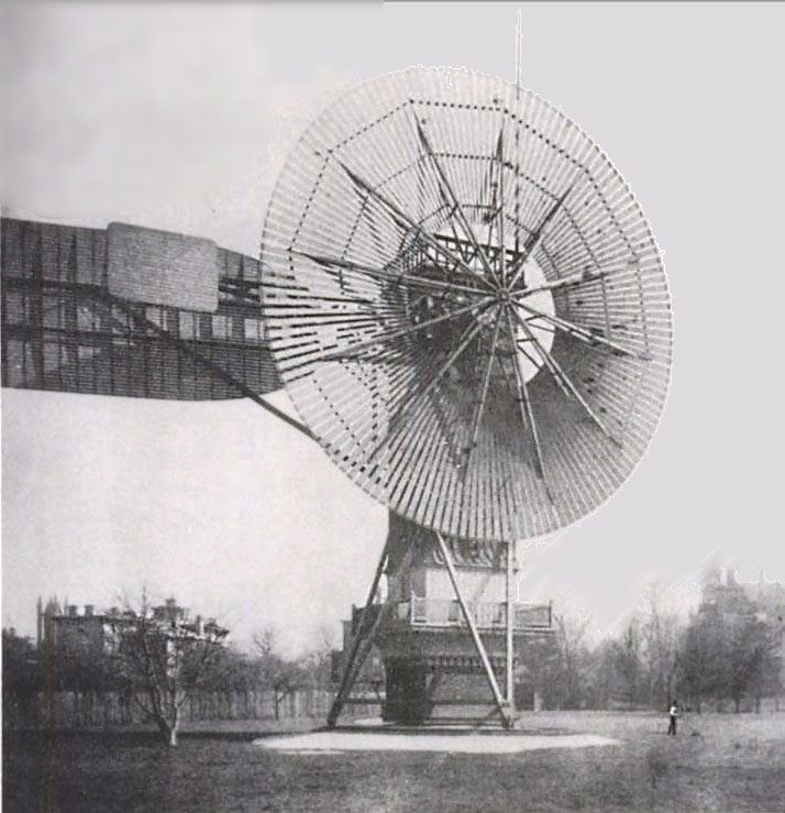 Charles F Brush's wind turbine.