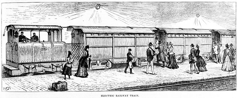City & South London Railway train, 1890.