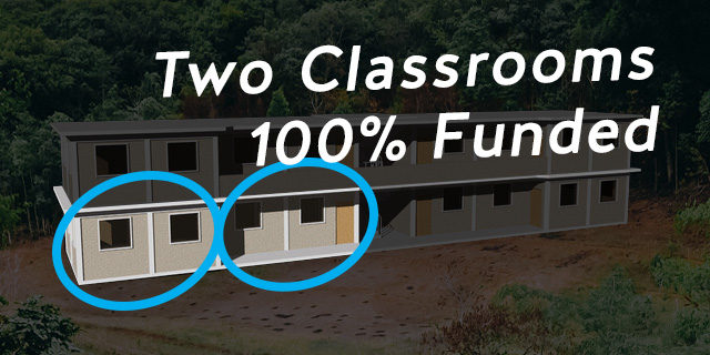 Praise God we've raised $30,000 enough for 2 Classrooms on the first floor.