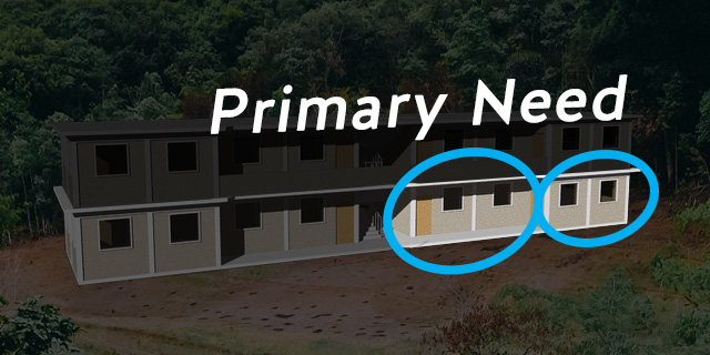 Our Primary Need is to raise another $30,000 for the remaining 2 First Story Classrooms so we can begin construction.