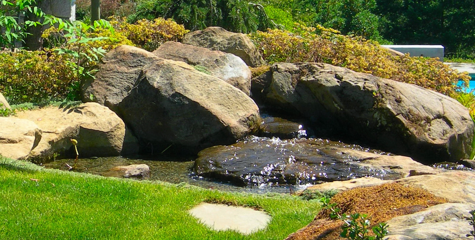 STREAM AND BEAUTIFUL ROCK PLACEMENT