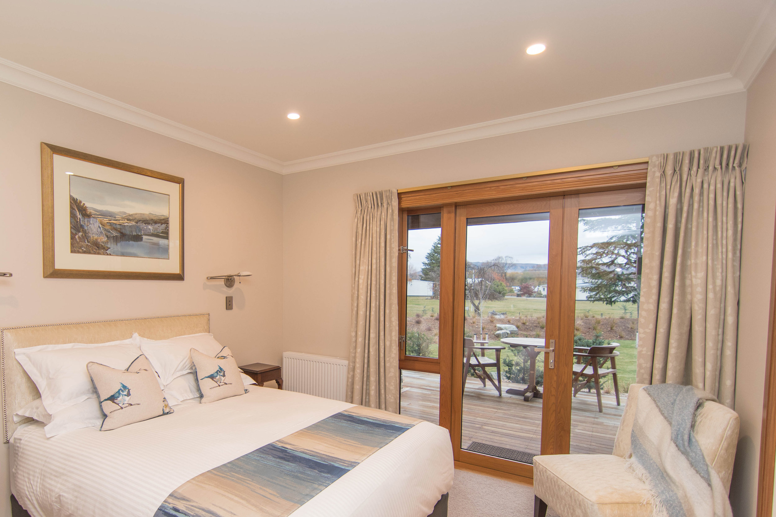 Enjoy the panoramic views of the alpine high country from the comfort of your bed.