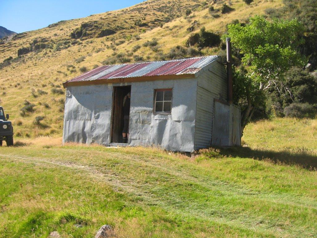 A traditional high country hut on back country of Longslip used at times of stockwork.