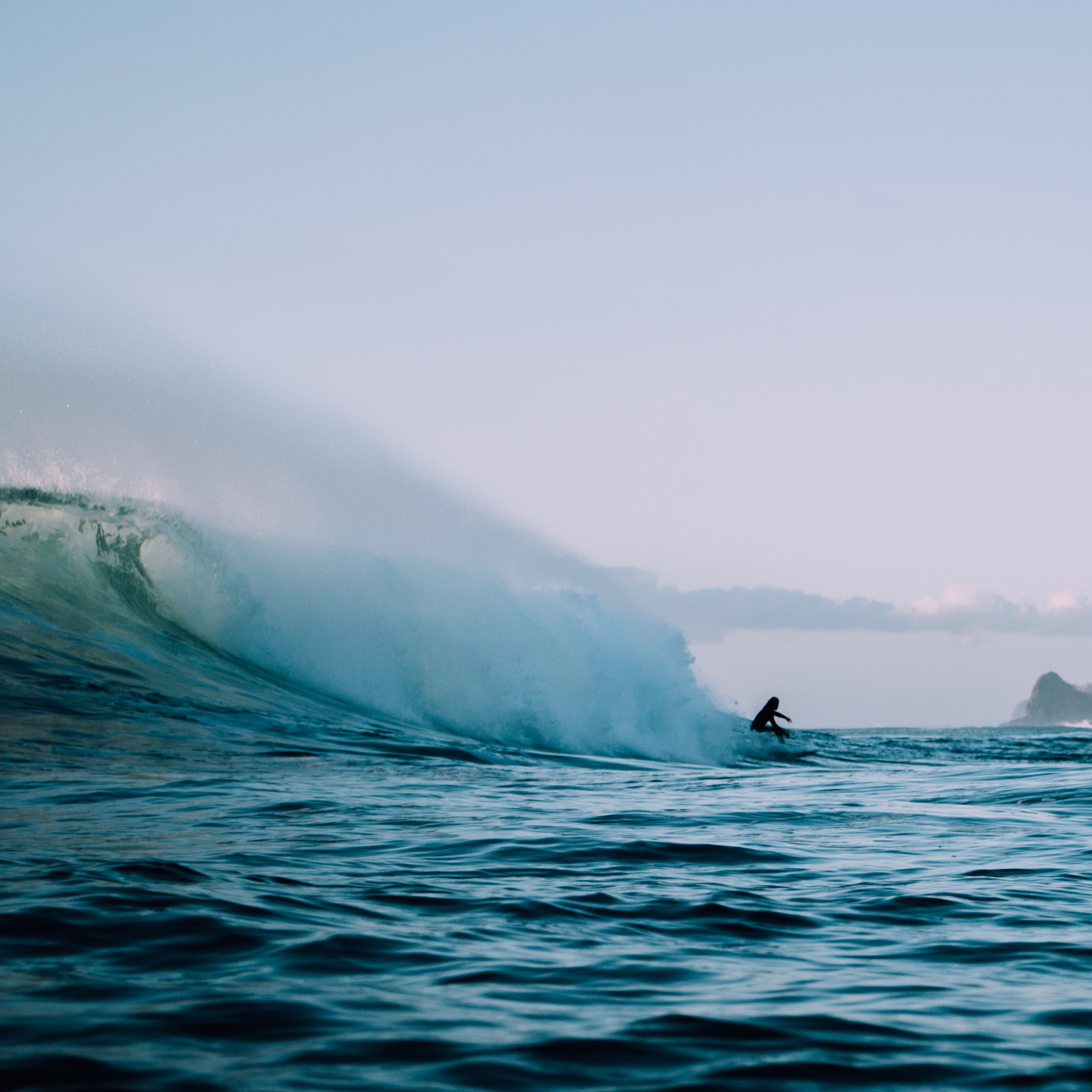 Surf in the warm PACIFIC ocean