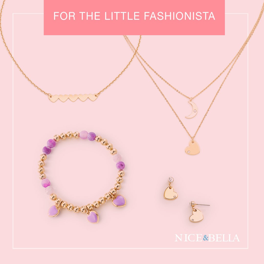 Hearts Necklace: 3161092L  Necklace with Crescent Moon: 3161044L  Bracelet: 3161068  Heart Earrings: 3161045
