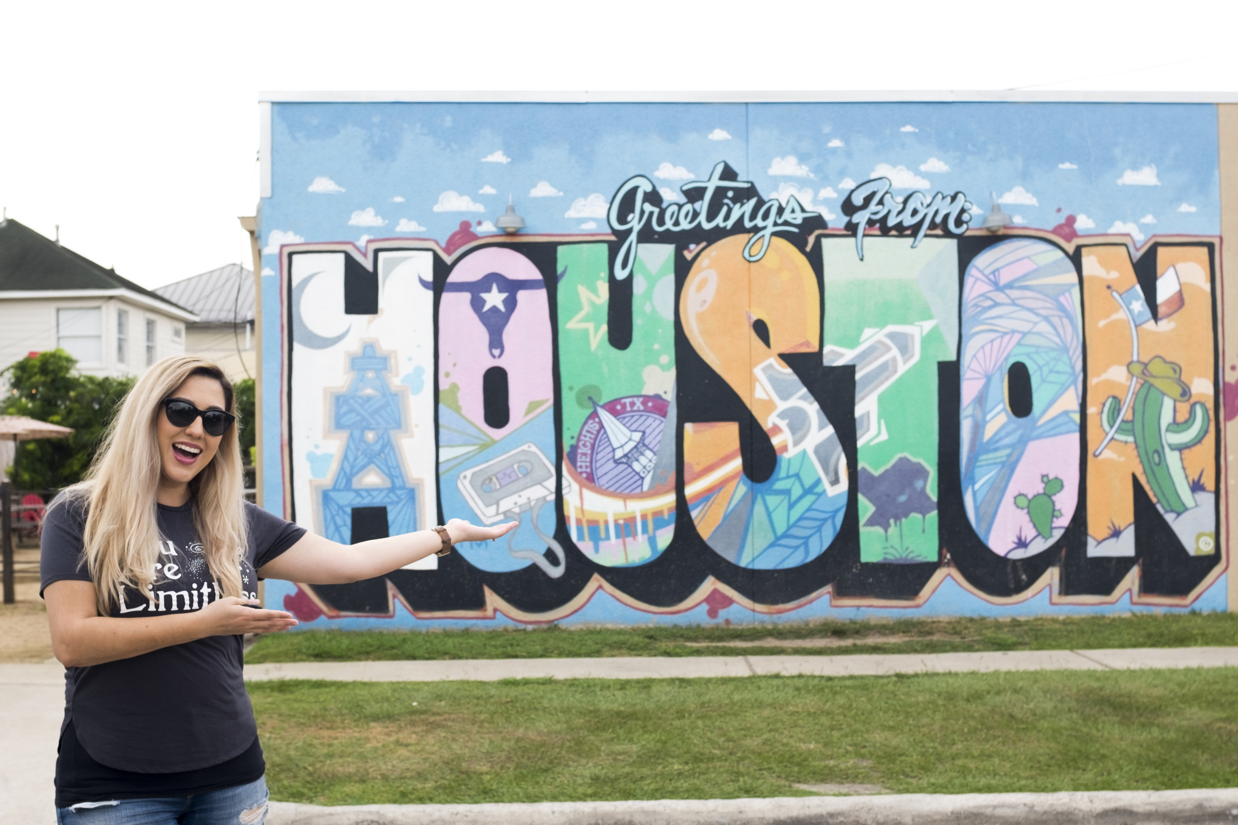 Humidity and my hair do not get along.Mural by Daniel Anguilu - located at 3601 White Oak Drive.