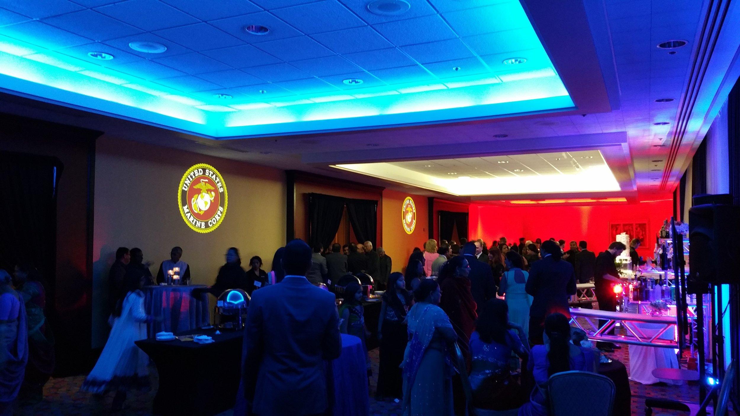 Indian Wedding Lighting Indianapolis,Marine Gobo Projections,Wyndham Indianapolis West.jpg
