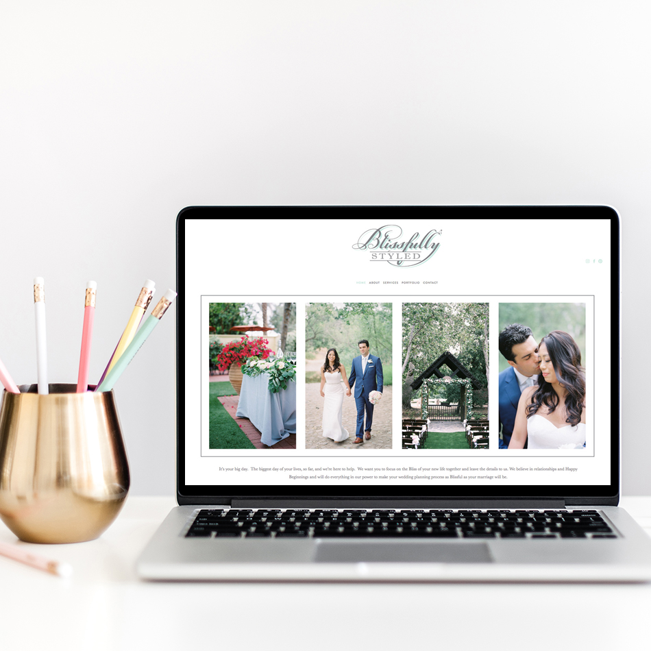 Squarespace Website Design by The Editor's Touch | Semi Custom Websites for Wedding Professionals and Creatives