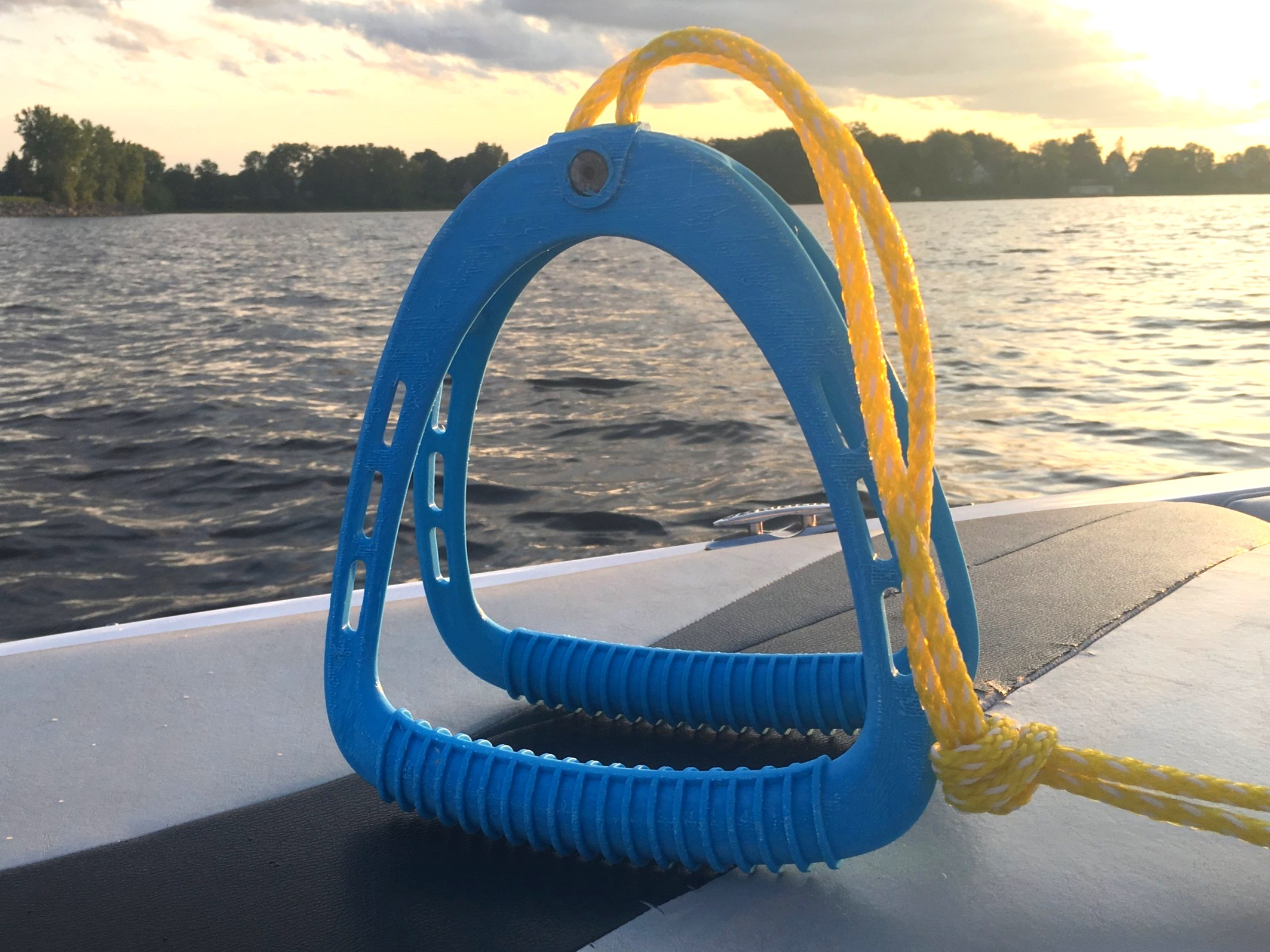 3D Print + Testing - To get a better understanding of the ergonomic considerations that were required for this product we 3D printed the handle and hooked it up to the back of a boat. The handle withstood the test and any required changes were made.