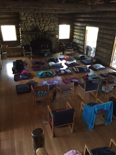Meditation hall in the Vallecitos Lodge