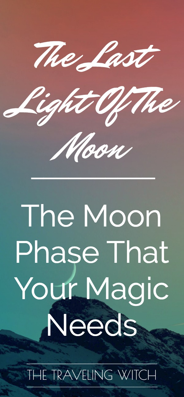 Welcome transformation into your life and your witchcraft with the last light of the moon! // Intrepid Crow