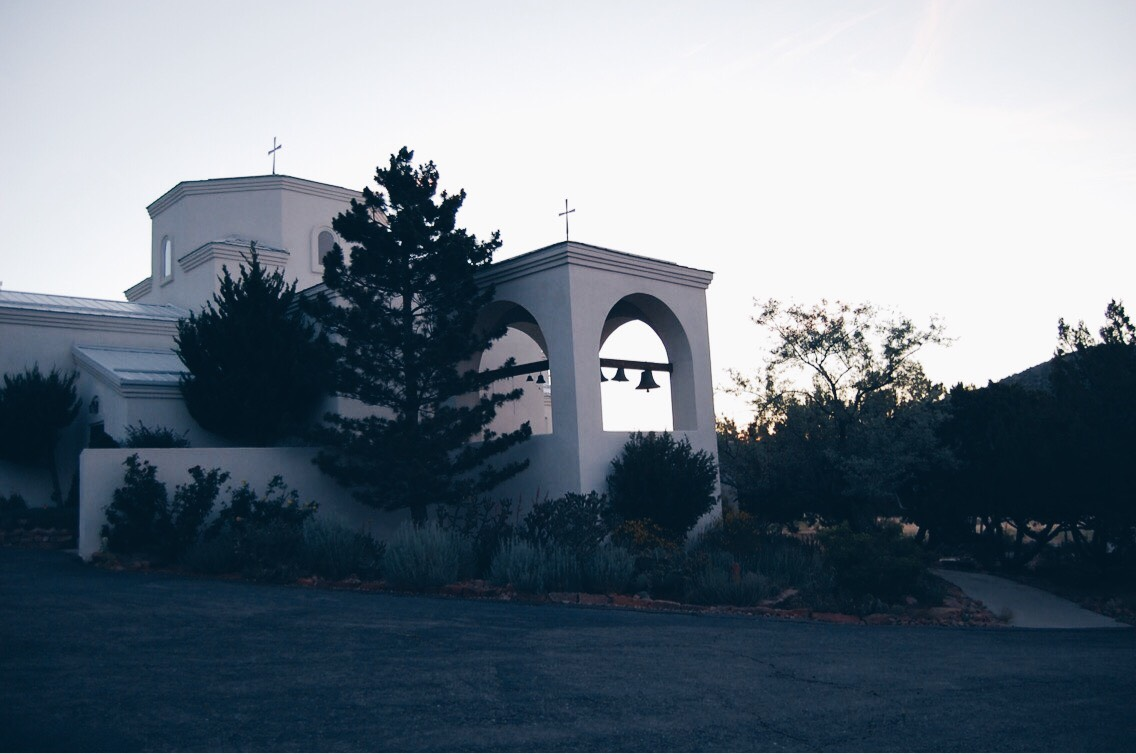 Spent my first night in the parking lot of this adorable little church!
