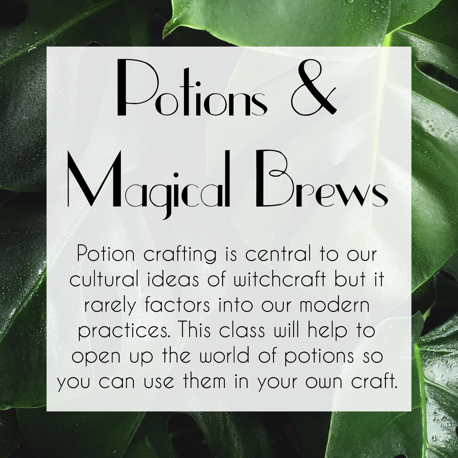 Potions & Magical Brews Course by The Traveling Witch