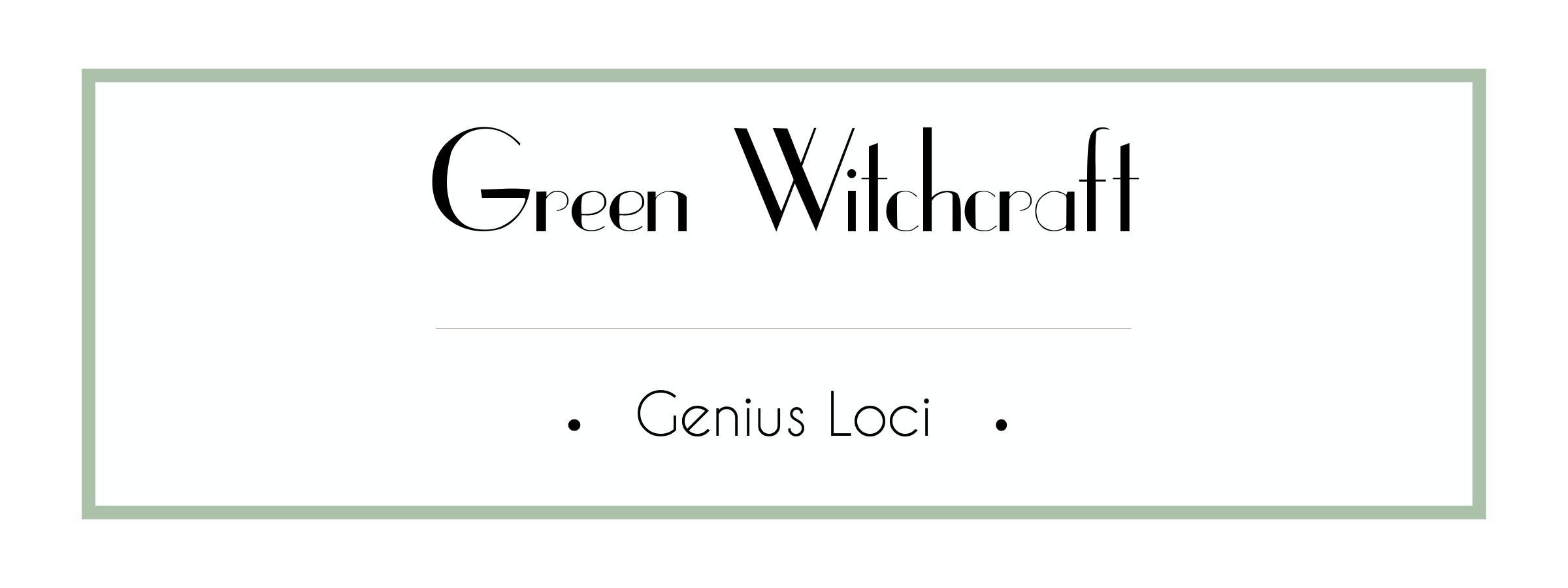 Green Witchcraft Course - Genius Loci