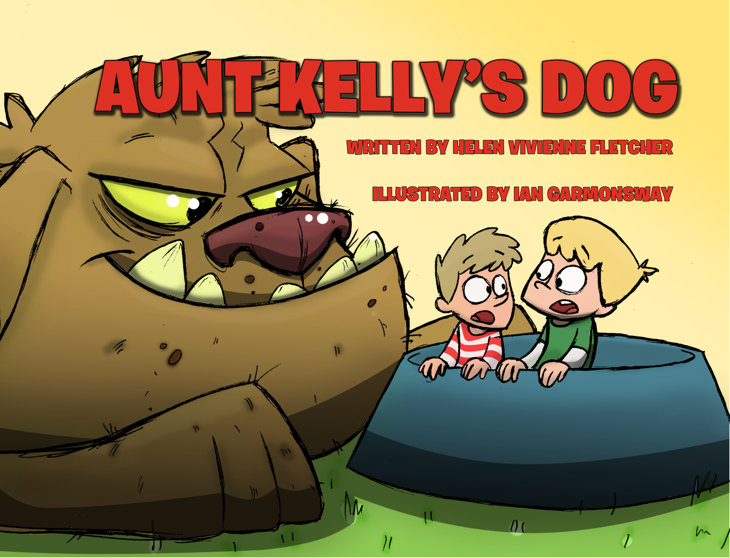 Aunt Kelly's Dog - NZ$20   Davey and Michael can't wait to meet Aunt Kelly's Dog... but what will they do if the dog is a big, scary, people-eating monster?