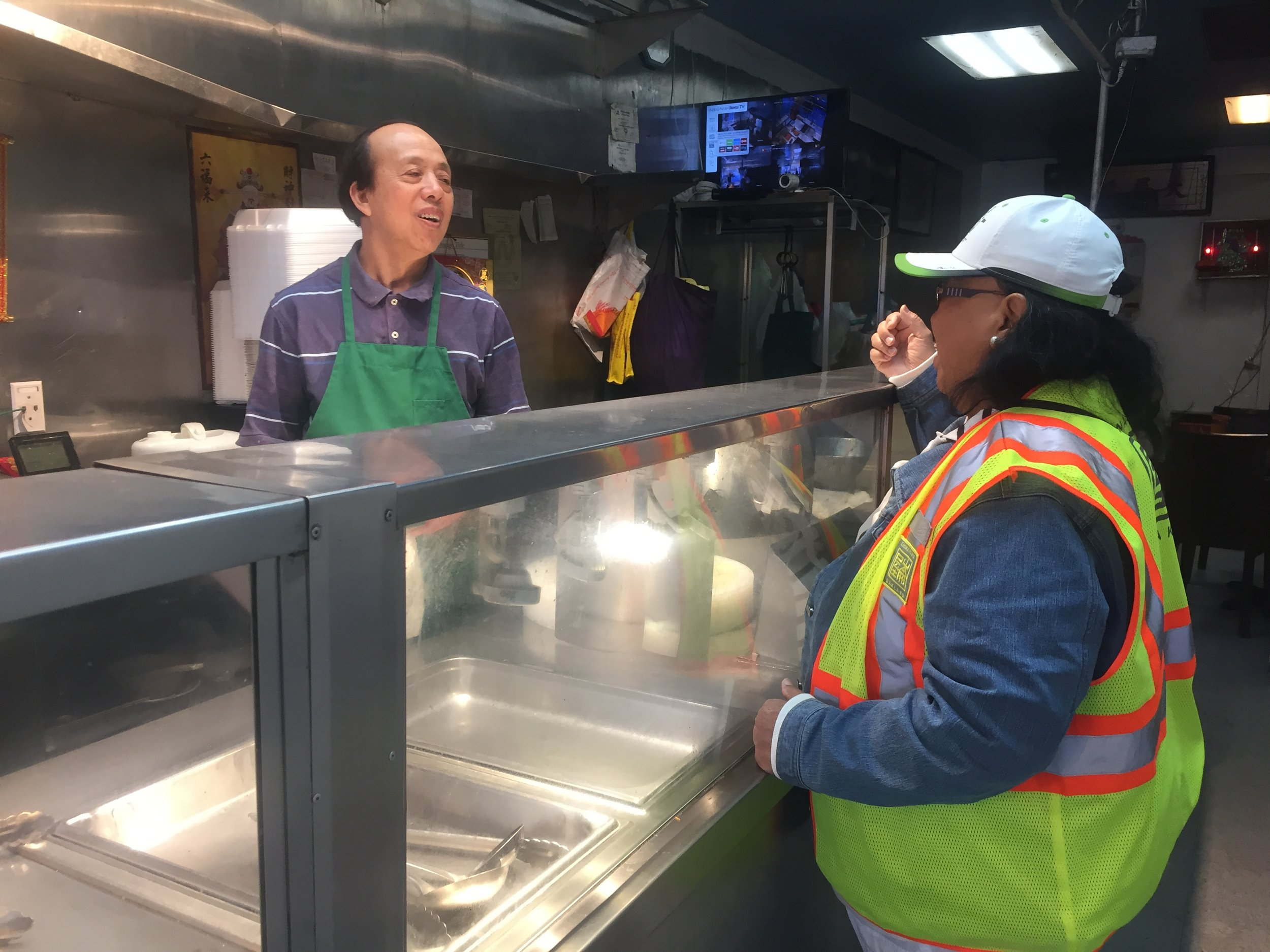 Our Chinatown Clean Ambassador Shirley speaks 6 languages, and was previously a merchant on 8th Street.