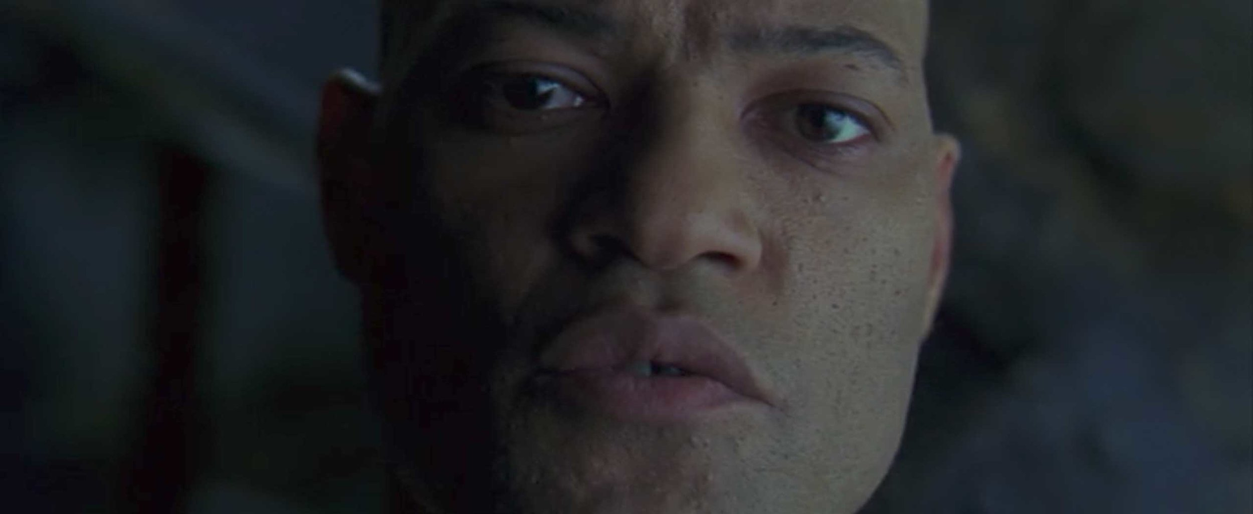 Virtually every line by Morpheus would've been perfect for the trailer because he spends a lot of time describing things.