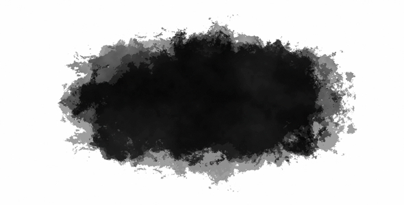 """A """"luma matte"""" where the black portion either reveals or conceals the layer it affects."""