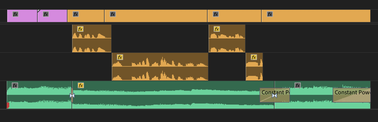 STEP 3: Add transitions to smooth out the change in volume