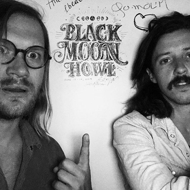 Black Moon Howl was here #wallart #fortcollins