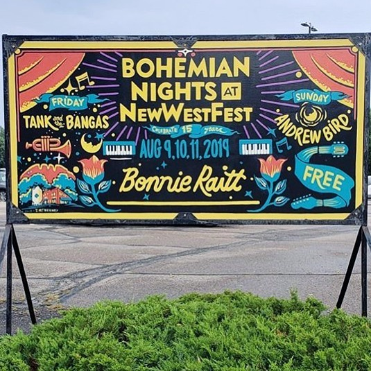 Honoured among foxes and pheasants to play Bohemian Nights at NewWestFest next week.  Aug 9, 6:20pm, Old Town Square.  #bohemiannights #fortcollins