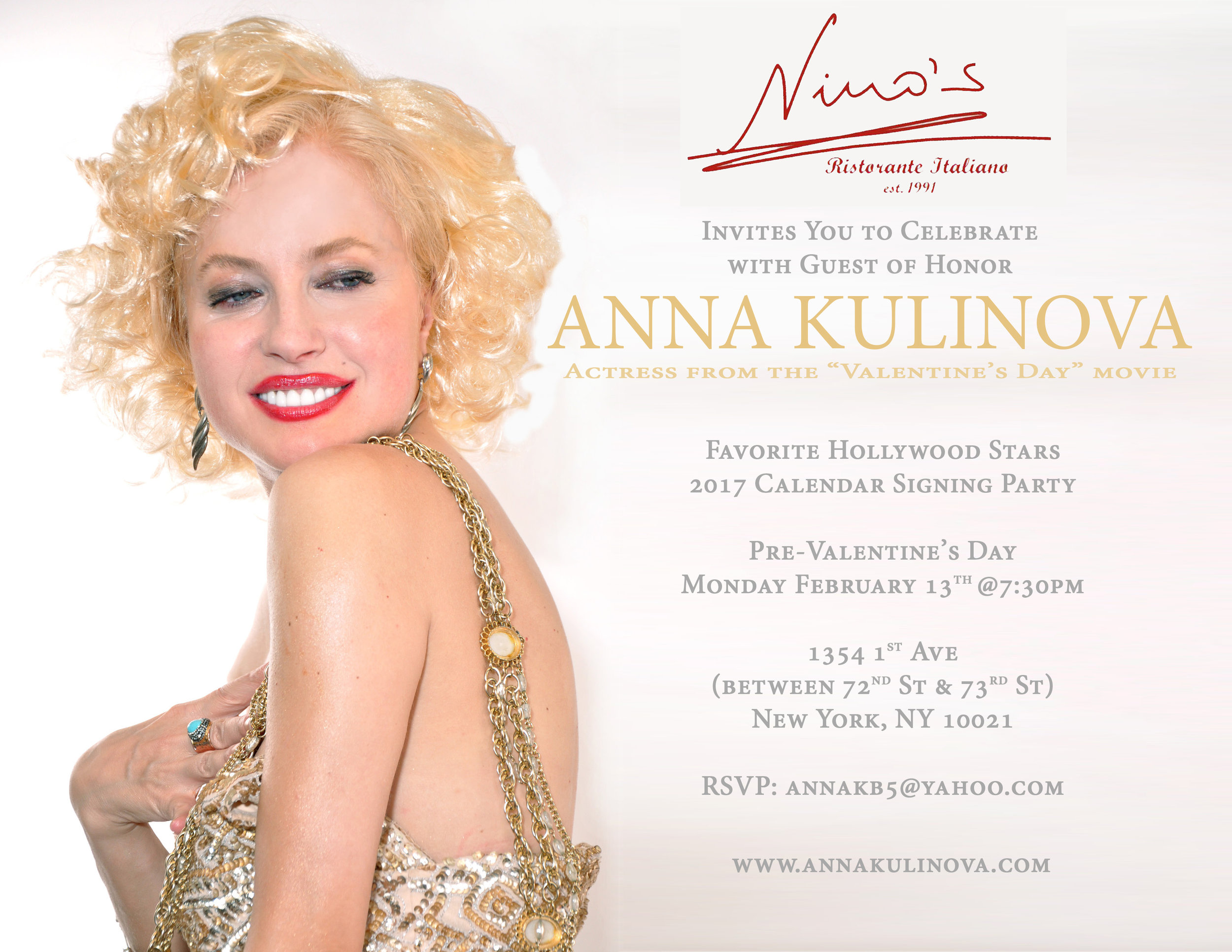 • Anna Kulinova online branding managed by Carlos Benitez