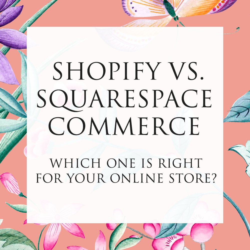 Shopify vs. Squarespace Commerce